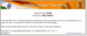Online Indian Visa Form 2